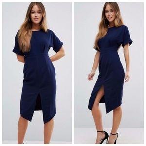 ASOS Classic Navy Blue Midi Dress